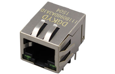 China Single Port shielded RJ45 Female Connector with internal isolation Transformer supplier