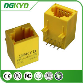 China KRJ-015DJWDNL unshielded rj45 internet connection 10 / 100 Megabit , yellow color supplier