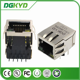 China Tab Down Shielded Connector Magnetic RJ45 jack 10/100M  Transformer / Filter factory