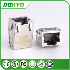 China KRJ-CB329WDENL Metal shielded 10/100/1000 cat6 Low profile rj45 connector with transformer factory