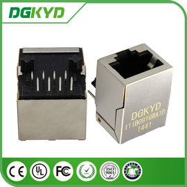 China Ethernet Cat6 rj45 Female Jack Shielded Connectors with Vertical magnetics 1:1.414 supplier