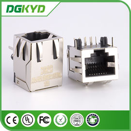 China 1x1 Single Port Shielded rj45 connector without Transformer , 0.85 inch supplier