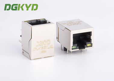 China Customized Shielded 10/100base Single Port RJ45 jack with Lan Transformer factory