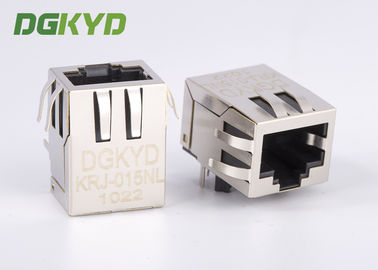 China DSL / ADSL Right Angle 10 / 100 base RJ45 female jack with transformer,Rohs Compliant factory