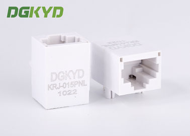 China 1x1 Tab Down Transformer RJ45 jack/ White rj45 8p8c connectors without Shielded factory