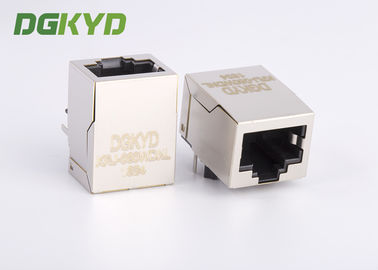 China Panel Mount Side Entry 100Base-t RJ45 Single Port Connector for cctv camera factory