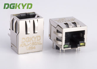 China Right Angle shielded 8p8c Communication RJ45 port with Transformer, G/Y supplier