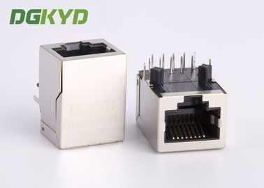 China 1 Port cat 6 RJ45 connector modules with internal transformers for Fiber Optic Transceivers supplier