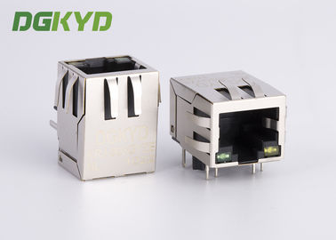 China Side Entry Shield PoE RJ45 Single port / Internal Magnetic Module,Useage HR911102A supplier