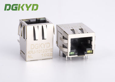 China PCB Network RJ45 Modular Jack with Filter, LED Tab Down side entry HR911103A supplier