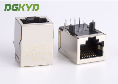 China 100 megabit RJ45 Magnetics modular jack, Single Port network cable connector rj45 factory