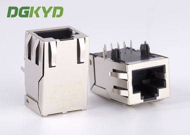 Metal shielded CAT6 10 Pin Rj45 Connector KRJ -300CNL High performance