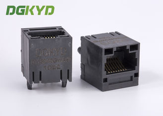 China Unshield PoE RJ45 magnetic jack with 100 Base-TX transformer , RJ45 Female Jack supplier