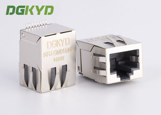 China 100 base-tx low profile SMD rj45 connector with Network Filter for MODEM factory