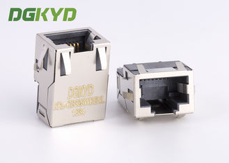China 1000 base extra low profile rj45 connector with transformer, 12 pins SMD factory