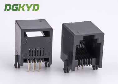 China Black plastic housing telephone jack 6p6c rj11 connector supplier