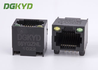 China DGKYD-56YGZNL Unshielded Ethernet Connector Rj45 Single Port with Y/G Led supplier
