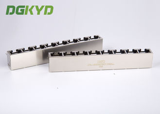 KRJ-56B8P8C1X8NL 8 contacts 8 position rj45 modular connector 1X8 multiple port