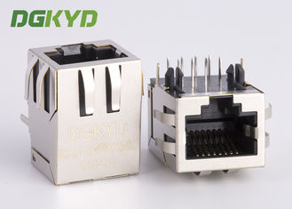 China Standard cat 5 RJ45 ethernet connector with magnetic transformer customized factory