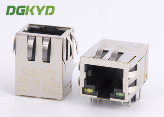 China Integrated magnetic cat 5e RJ45 ethernet connector with transformer RJ45 PCB Socket factory