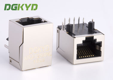 China Single Port 10 / 100 base RJ45 with transformer integrated connector module supplier