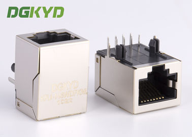 Customized 10/100base - T rj45 modular connector with transformer 1 x 1 Tab Down
