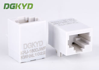 China Unshield white housing cat 5e RJ45 single port Ethernet Jack with Magnetics 100 base-tx supplier