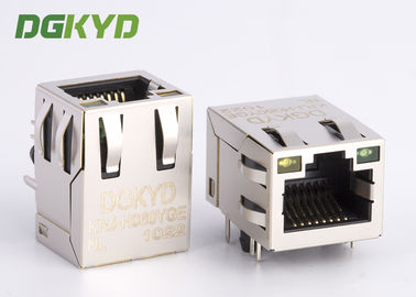 China Modular jack RJ45 ethernet connector with Lan transformer PCB Mount RJ45 factory