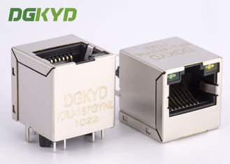 China High Performance 180 degree top entry RJ45 jack with transformer cat 5 supplier