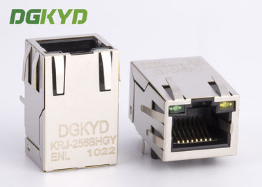 China 10/100 BASE single Port RJ45 Magnetics connector Ethernet Modular jack customized factory