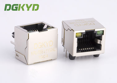 China Customized Single Port Metal Shield Rj45 Keystone Jack Without Transformer supplier
