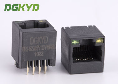 China 180 Degree Top Entry Rj45 Lan Jack RJ45 Keystone Jack With Black Plastic Housing supplier