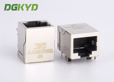 China Fatory customized single port shield 10 pins 10 contacts rj 45 LAN jack connector factory