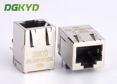 China 21.3mm length tap down RJ45 shielded connector without transformer for Net Card supplier