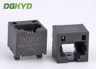 China 12.7mm Height Very Low 180 Degree RJ45 Keystone Jack Top Entry Lan Socket supplier