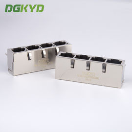 China 1x4 Multiple Port RJ45 Modular Jack quad ports connector combo for lan switch supplier
