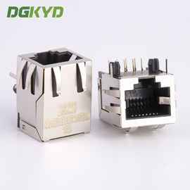 China Standard parts single port right angle shield rj45 connector without transformer supplier