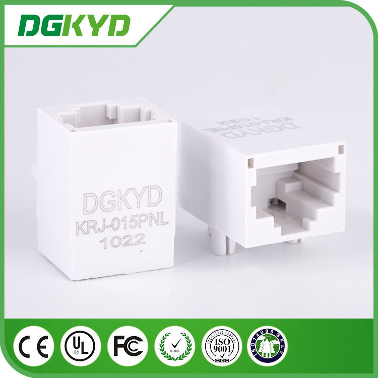 China single port 10/100 BASE unshielded Ethernet RJ45 Connector with transformer , gray factory