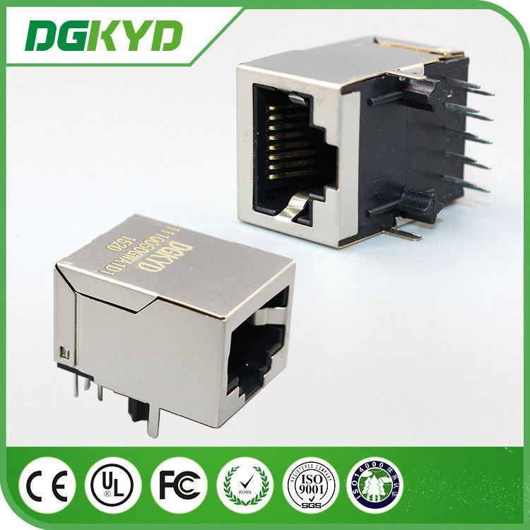 China Integrated Surface Mount RJ45 Female Jack , 1000base t cat6 rj45 connector shielded factory