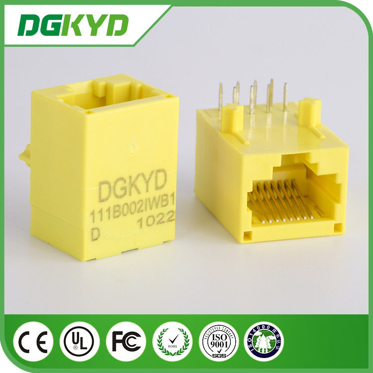 China Yellow Color 100 Base - TX Unshielded Rj45 Modular Jack DGKYD111B002IWB1D factory