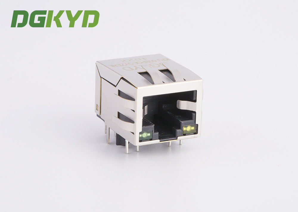 China CAT 5 PoE RJ45 Ethernet Connector Right Angle for Net Card, 10/100BASE factory