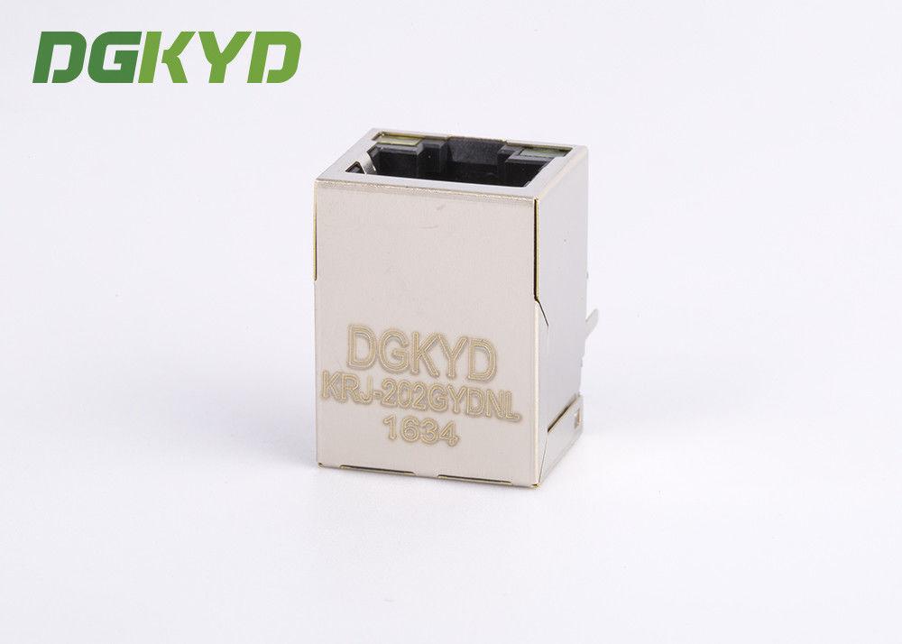 Right Angle Dip Modular Jack 8p8c Rj45 With Transformer