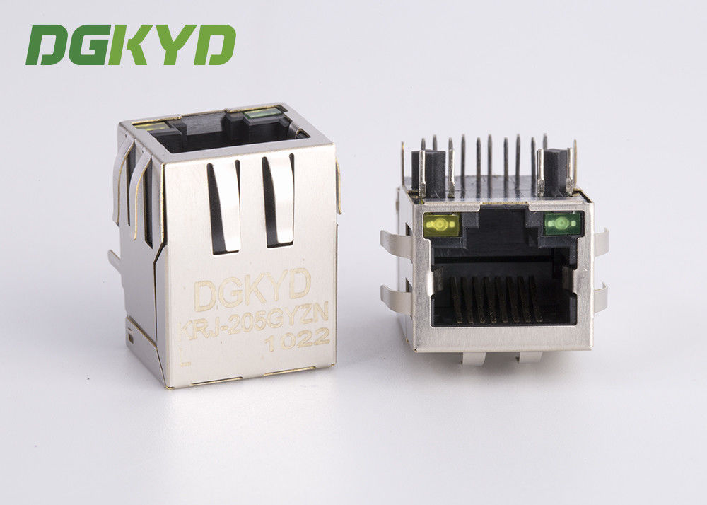 China Right Angle CAT6 RJ45 Modular Connector with Transformer for monitor factory