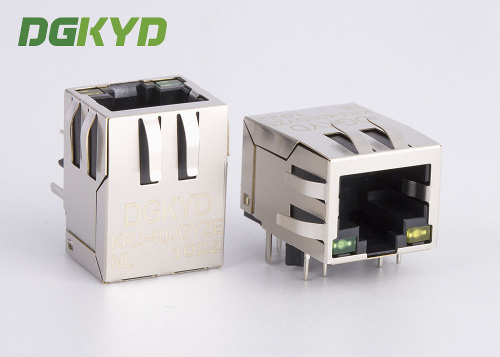 Industrial Panel Mount modular jack cat6 rj45 with Internal Magnetics , HR911102A supplier