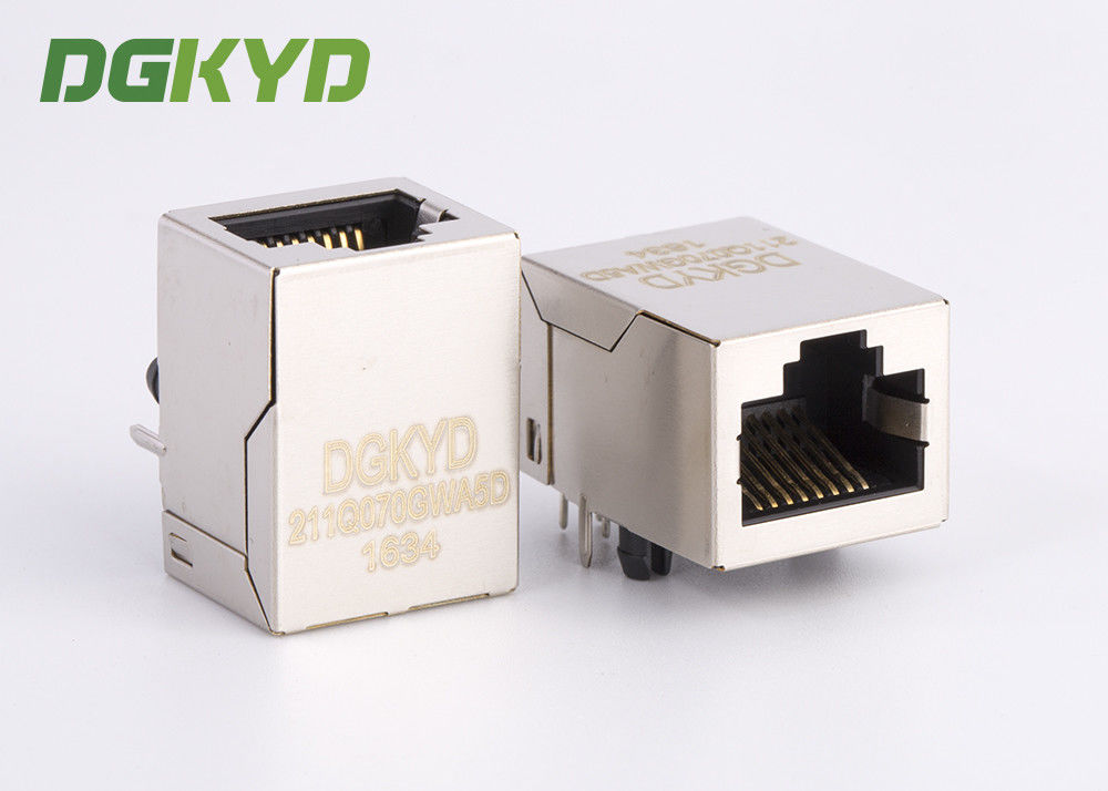 Right Angle RJ45 with Transformer gigabit Network Connector Integrated filter supplier