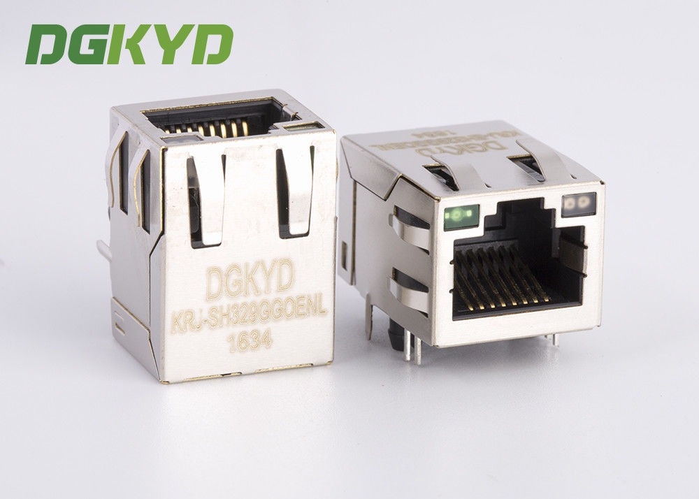 China Gigabit 10 Pin RJ45 Ethernet Modular Jack female with LED for network card factory