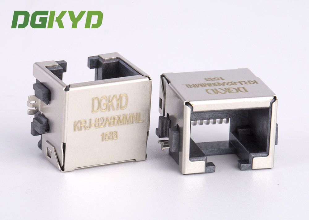 China Fully shield rj45 extra low profile LAN jack, 8p8c ethernet connector SMD factory