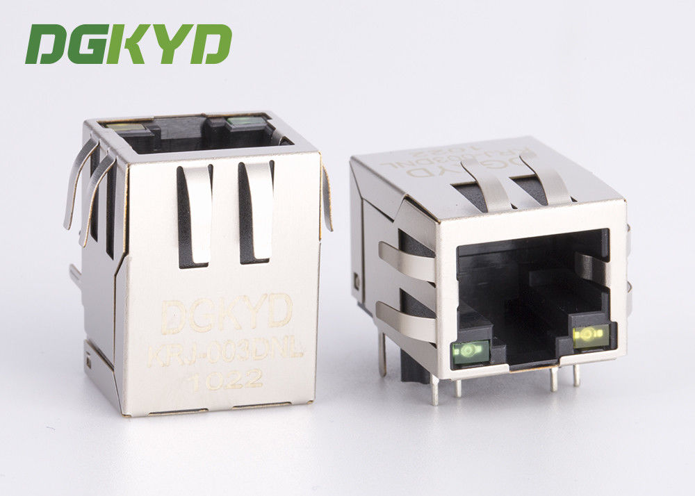 Network port 1x1 Tab Down RJ45 Jack Module with Lan Transfomer 100Base J0011D01NL supplier