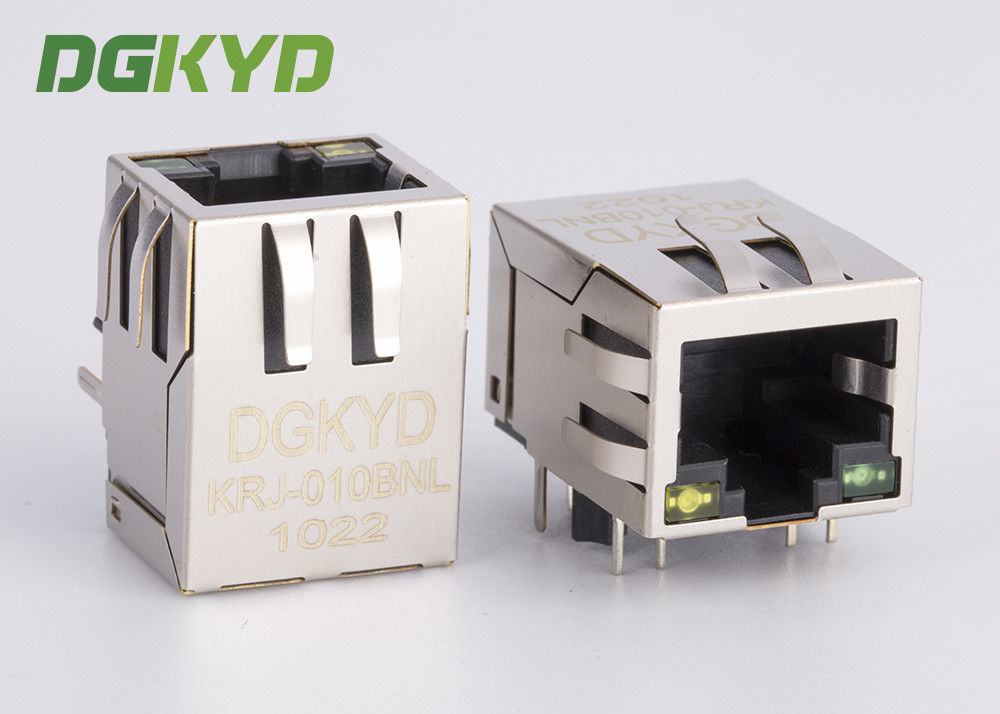 Shielded Magnetics Rj45 Pcb Connector with Integrated transformer customizable supplier