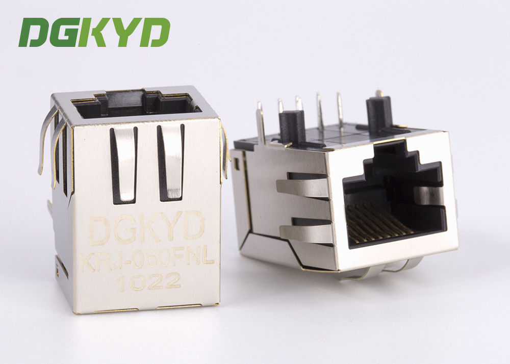 China Metal shielded 100 Base-tx cat5 rj45 ethernet connector with magnetics China factory factory